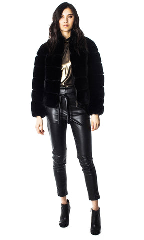 GENERATION LOVE PANALED FAUX FUR WOMEN'S BOMBER F19JodiFauxFurB
