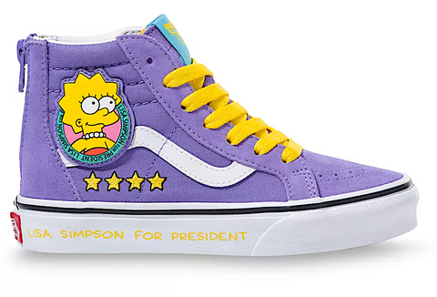 VANS UY SK8-HI ZIP X THE SIMPSONS LISA 4 PREZ KID