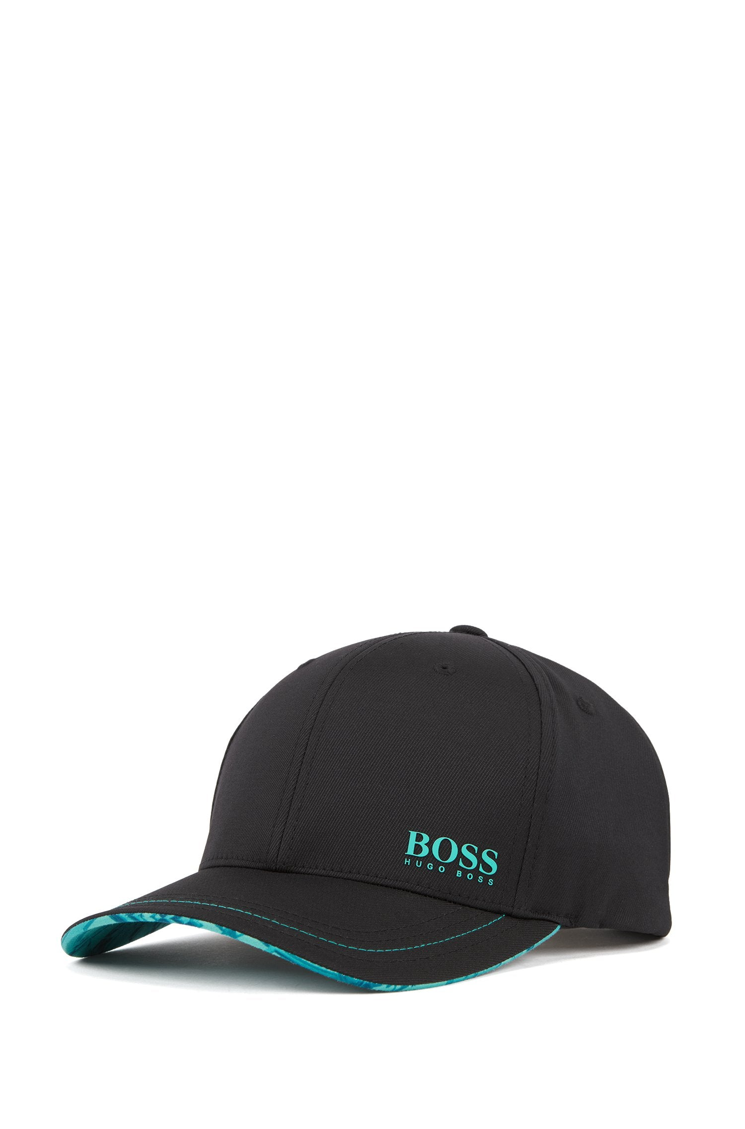HUGO BOSS Lightweight cap in stretch twill with collection pattern 50410365-001
