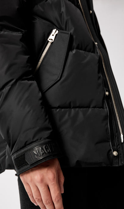 MACKAGE RILEY MEN'S DOWN JACKET W/ REMOVABLE SHEARLING BIB RILEY-Black