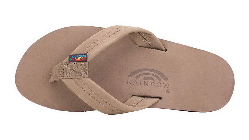 RAINBOW SANDALS SINGLE LAYER PREMIER LEATHER WITH ARCH SUPPORT  Mens SANDALS 301ALTS0-DKBR