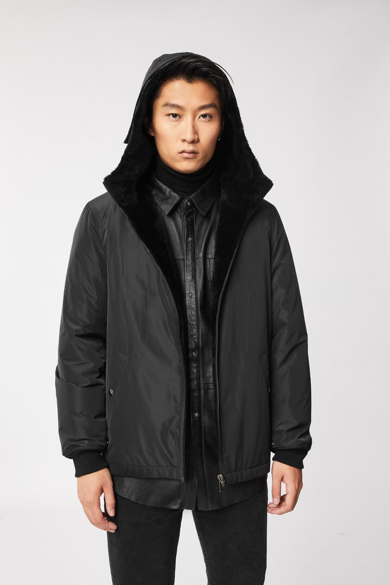 MACKAGE VINCENT MEN'S 3-IN-1 COAT W/SHEEPSKIN LINER VINCENT-Black