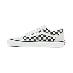 VANS OLD SKOOL CHECKERBOARD WHITE/BLACK UNISEX SNEAKERS VN0A38G127K