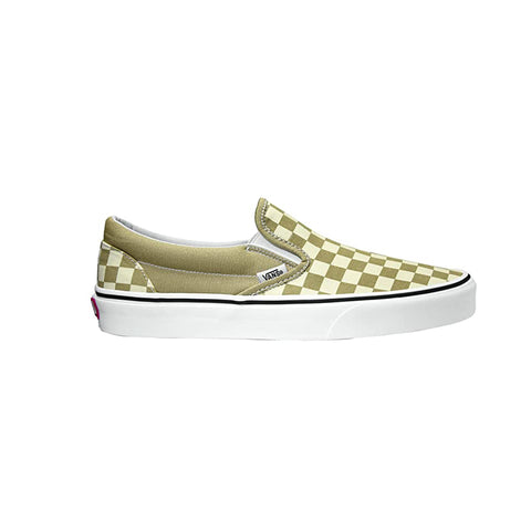 VANS CLASSIC SLIP ON CHECKERBOARD CORNSTALK/TRUE WHITE UNISEX SNEAKERS VN0A4BV31G9