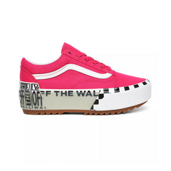 VANS OLD SKOOL STACKED LOGO CABARET/TRUE WHITE UNISEX SNEAKERS VN0A4U1521Y