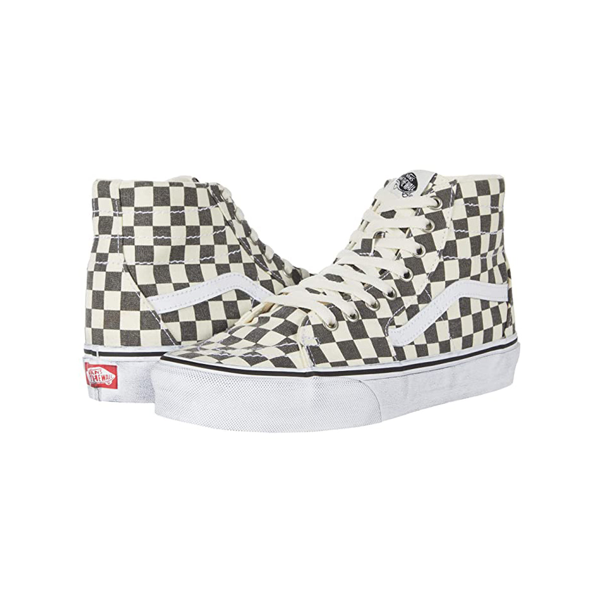 VANS SK8-HI WASHED TAPERED ASPHALT/TRUE WHITE UNISEX SNEAKERS VN0A4U16HQE