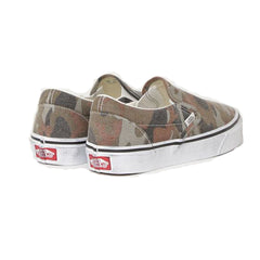 VANS CLASSIC SLIP ON WASHED CAMO/TRUE WHITE UNISEX SNEAKERS VN0A4U3819W
