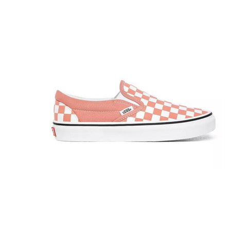 VANS CLASSIC SLIP ON CHECKERBOARD ROSE DAWN/TRUE WHITE UNISEX SNEAKERS VN0A4U381GL