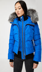 MACKAGE ROMANE DOWN WOMEN'S JACKET W/ REMOVABLE SILVERFOX FUR ROMANE-XR-ROYAL