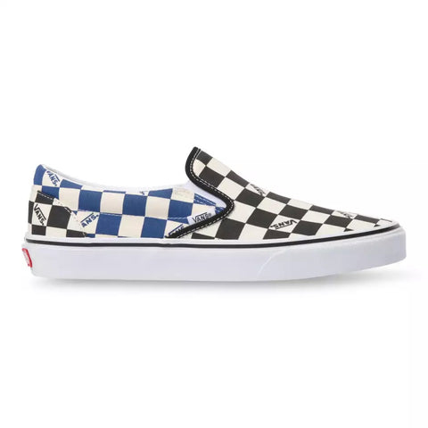 Vans BIG CHECK SLIP-ON Unisex sneakers BLACK/NAVY VN0A4U38WRT