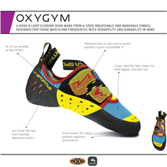 La Sportiva OXYGYM  Mens Climbing  Shoes CarbonSulphur 10N-900702