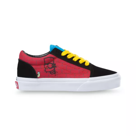 VANS UY OLD SKOOL X THE SIMPSONS EL BARTO KID'S SNEAKER VN0A4BUU17A