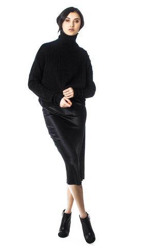 GENERATION LOVE CASHMERE BLEND WOMEN'S TURTLE NECK SWEATER F19406B