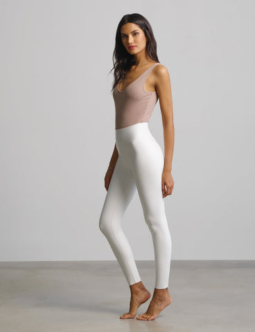 COMMANDO FAUX LEATHER LEGGING WITH PERFECT CONTROL WOMEN'S SLG06-WHITE