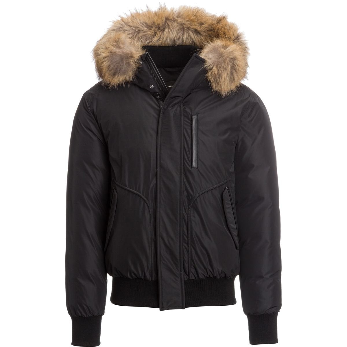 Mackage WINTER DOWN BOMBER JACKET WITH FUR FLORIAN-BLACK