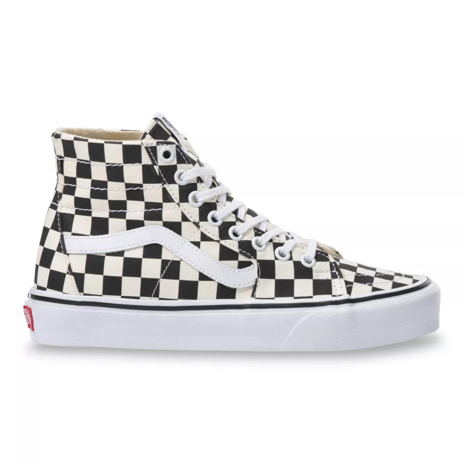 Vans CHECKERBOARD SK8-HI TAPERED Unisex sneakers BLACK/TRUE WHITE VN0A4U165GU