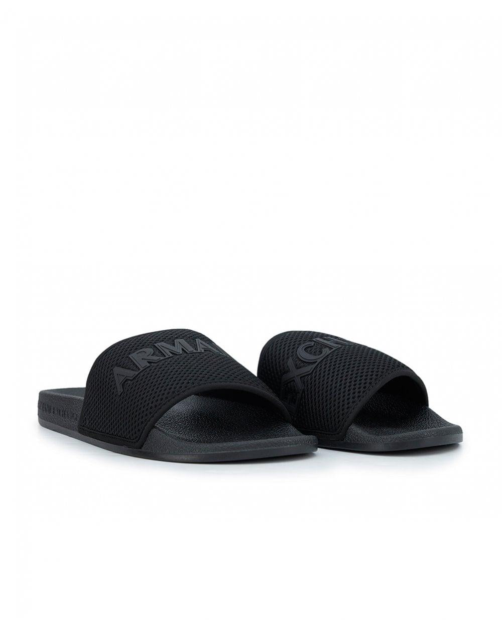 ARMANI EXCHANGE MEN'S SLIPPERS XUP001-XV087-00002 Black color