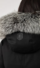 MACKAGE CHARA DOWN WOMEN'S PARKA W/ SILVERFOX FUR TRIM CHARA-DXR-BLACK