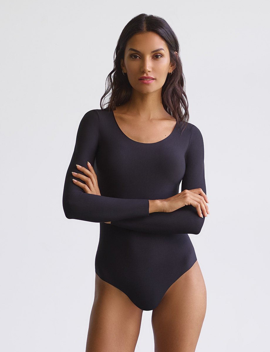 COMMANDO BUTTER LONGSLEEVE WOMEN'S BODYSUIT BDS101-BLACK