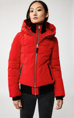 MACKAGE ROMANE DOWN WOMEN'S JACKET W/ REMOVABLE NATURAL FUR ROMANE-R-RED