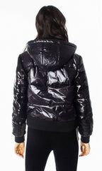 GENERATION LOVE WOMEN'S HOODED BOMBER W/ SEQUINS F19DrexlerSequinB