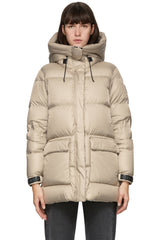 MACKAGE MAISIE WOMEN'S FOIL SHIELD DOWN JACKET W/ PATCH POCKETS MAISIE-Champagne