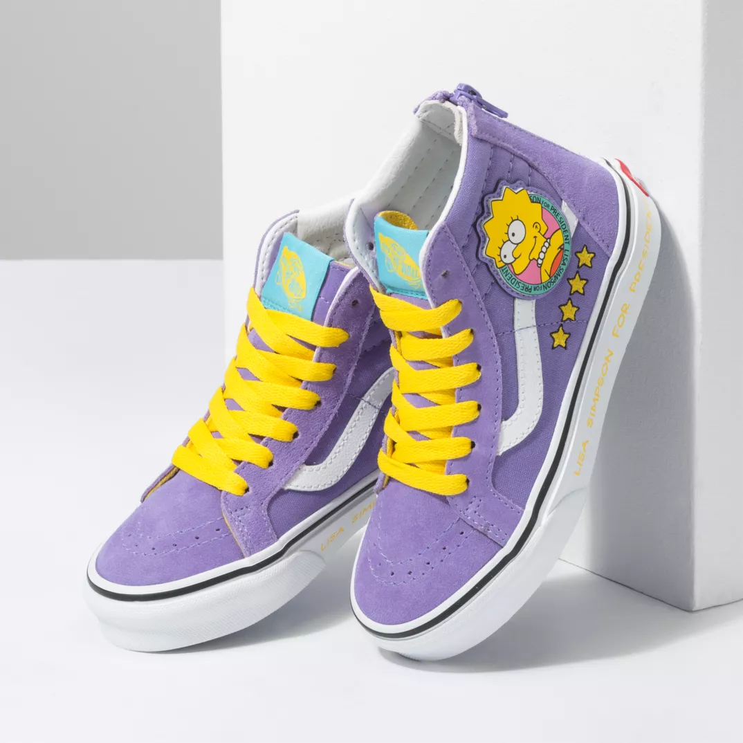 VANS UY SK8-HI ZIP X THE SIMPSONS LISA 4 PREZ KID'S SNEAKER VN0A4BUX17G