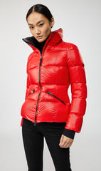 MACKAGE MADALYN DOWN WOMEN'S JACKET W/ REMOVABLE HOOD MADALYN-RED
