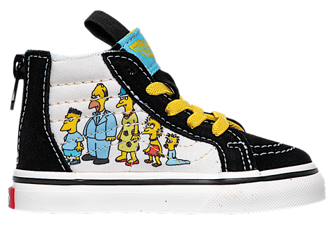 VANS UY SK8-HI ZIP X THE SIMPSONS 1987-2020 KID'S SNEAKERS VN0A4BUX17E