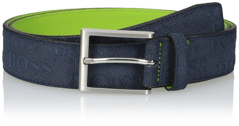 Hugo Boss Mens Brushed and embossed leather belt: 'TaloSz35sdem' 50327649-410