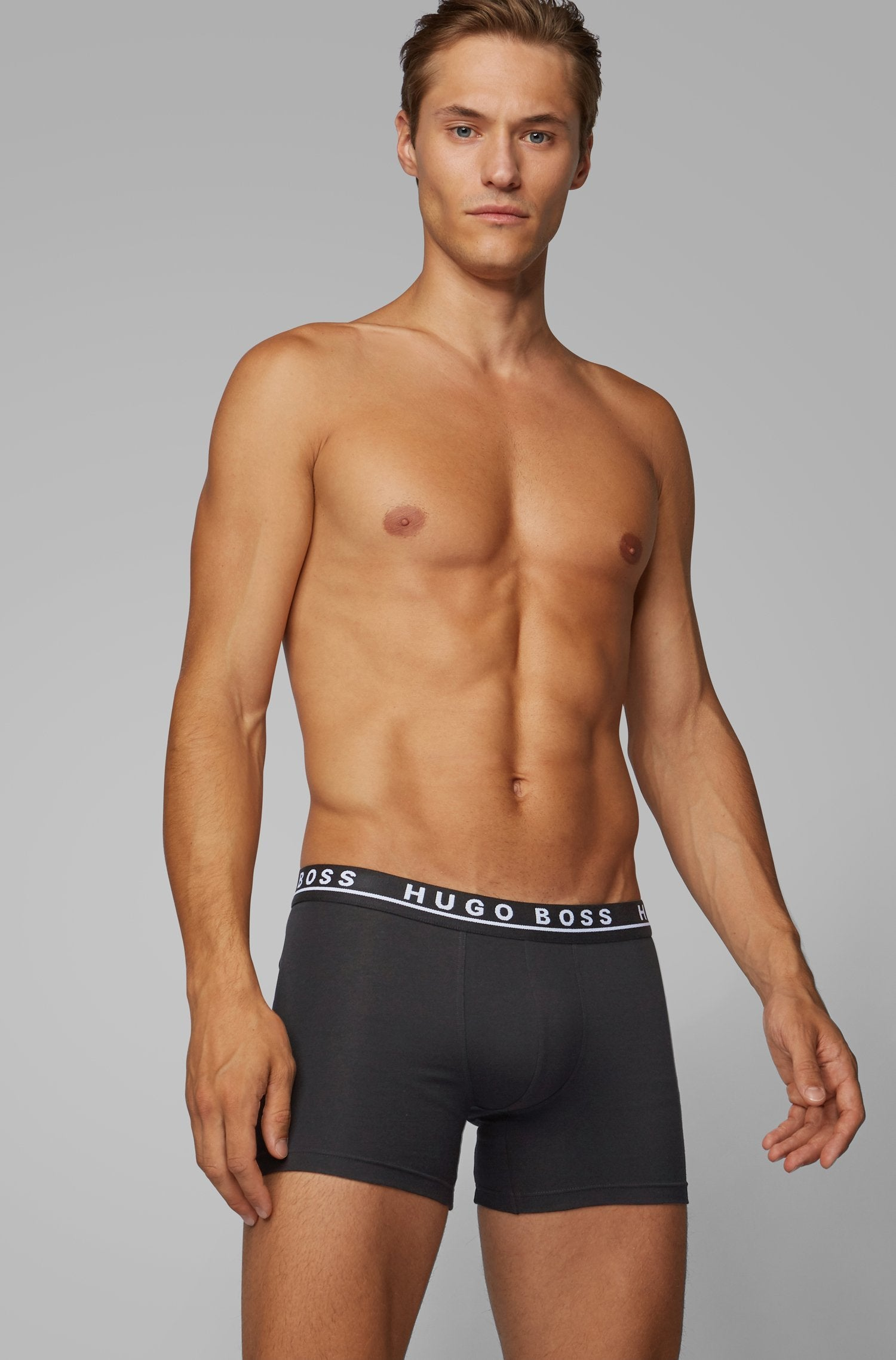 Hugo Boss Boxer Brief 3P CO/EL Mens Underwear 50325404-001