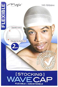Magic Collection Stocking Wave Cap 2 pcs - White