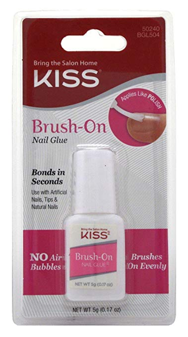 Kiss Lightning Speed Brush On Nail Glue - 2 pack