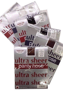 20 x 3 Pairs Ultra Sheer Pantyhose Queen White