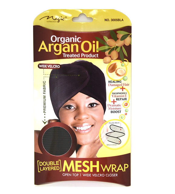 Organic Argan Oil Double Layered Mesh Wrap By Magic Collection