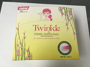 Twinkle 36 Pieces Eyebrow Shaver Razor (FOLDABLE)