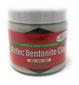 Magic Collection Aztec Bentonite Clay 1lb | Detox & Deep Cleansing | Face / Hair / Body | 100% Pure Bentonite Clay