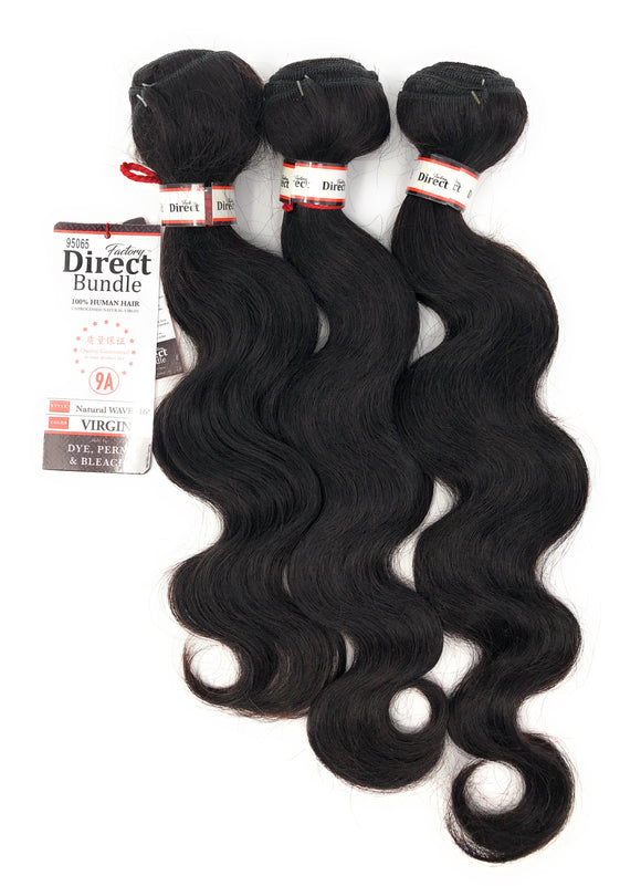 (3 Bundle) 9A Queen Factory Direct Bundle 100% Brazilian Human Hair Unprocessed Natural Virgin Remy Hair 300 g