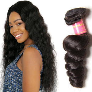 100% Virgin Remy Brazilian Hair Extensions, Loose Wave