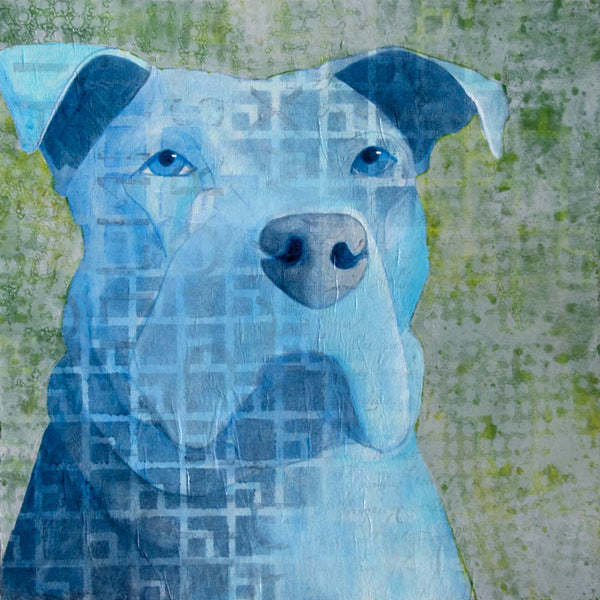 Mixed Media Dog Painting by artist Kelly Anne Powers
