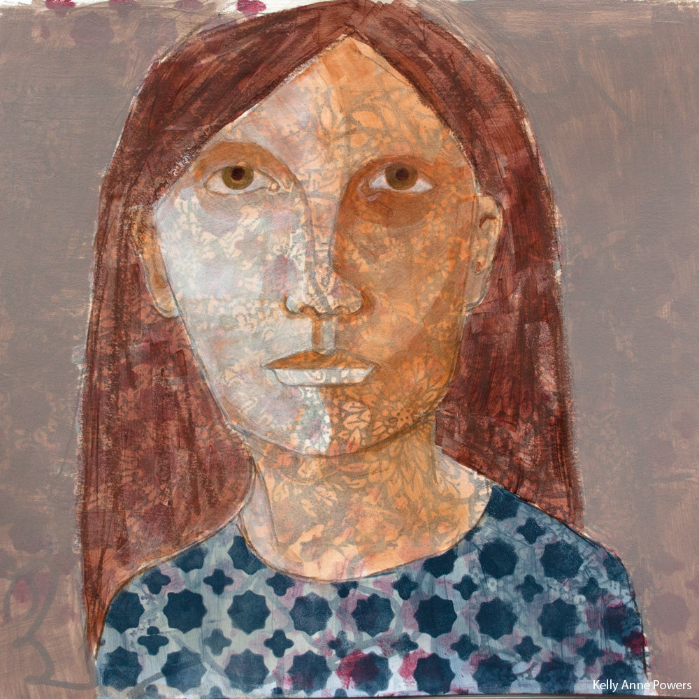 Mixed Media Portraits by Kelly Anne Powers
