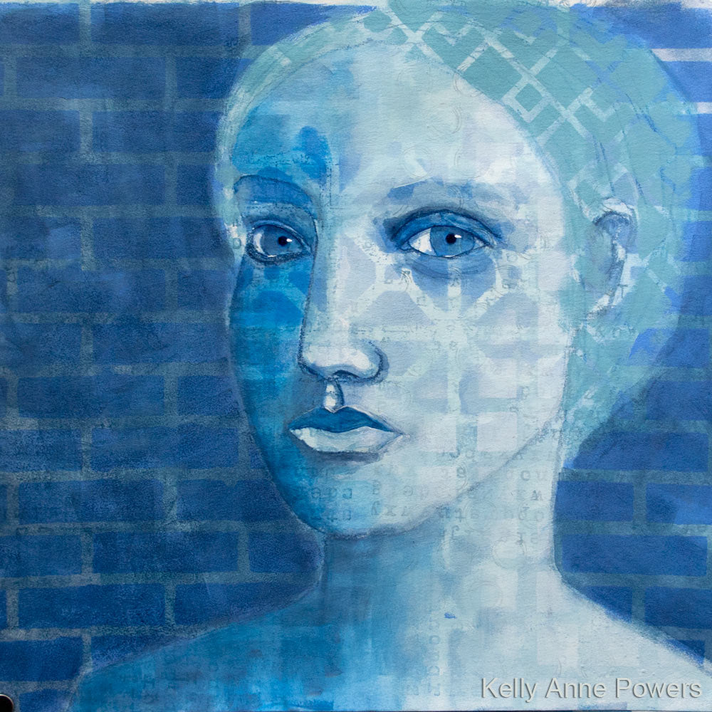 Mixed Media Portrait by artist Kelly Anne Powers