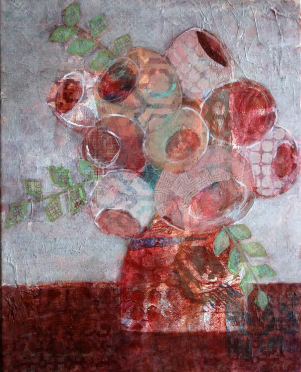 Portland Oregon Mixed media artist bouquets Kelly Anne Powers