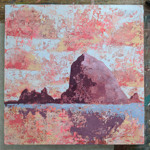 "** for Mike ** 12""x12"" - Cannon Beach 3"