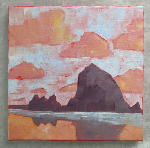 "** for Mike ** 8""x8"" - Cannon Beach 2"