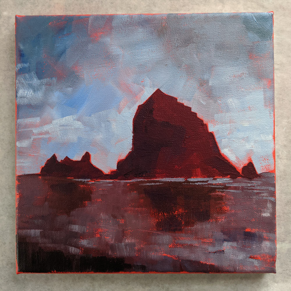 "** for Mike ** 8""x8"" - Cannon Beach 1"