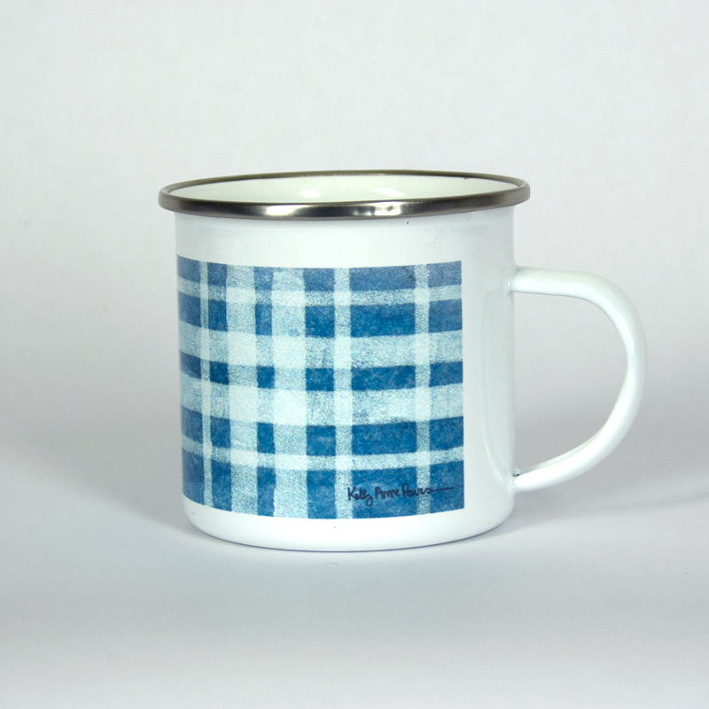 Blue Plaid Adventure 10 oz Mug