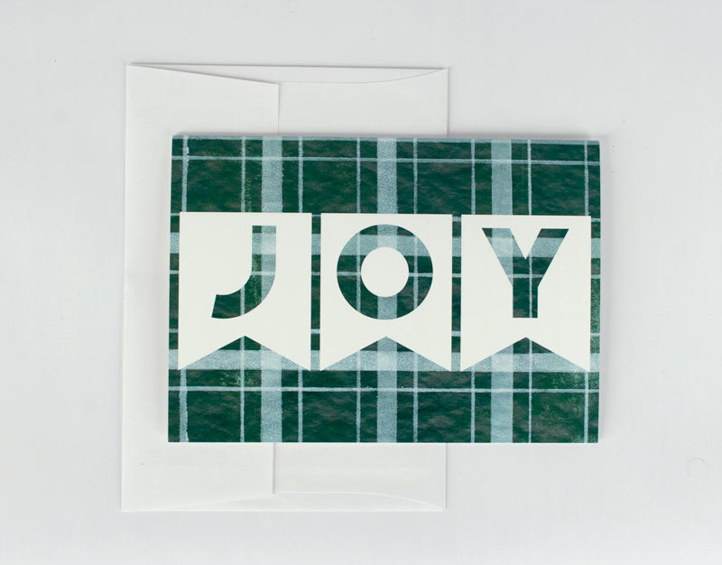 Evergreen JOY Holiday Card