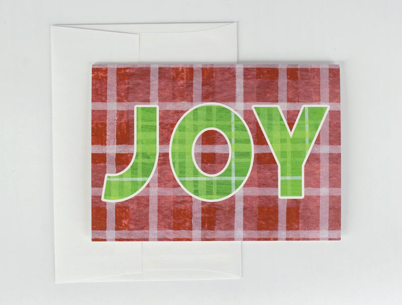 Red & Green JOY Holiday Card