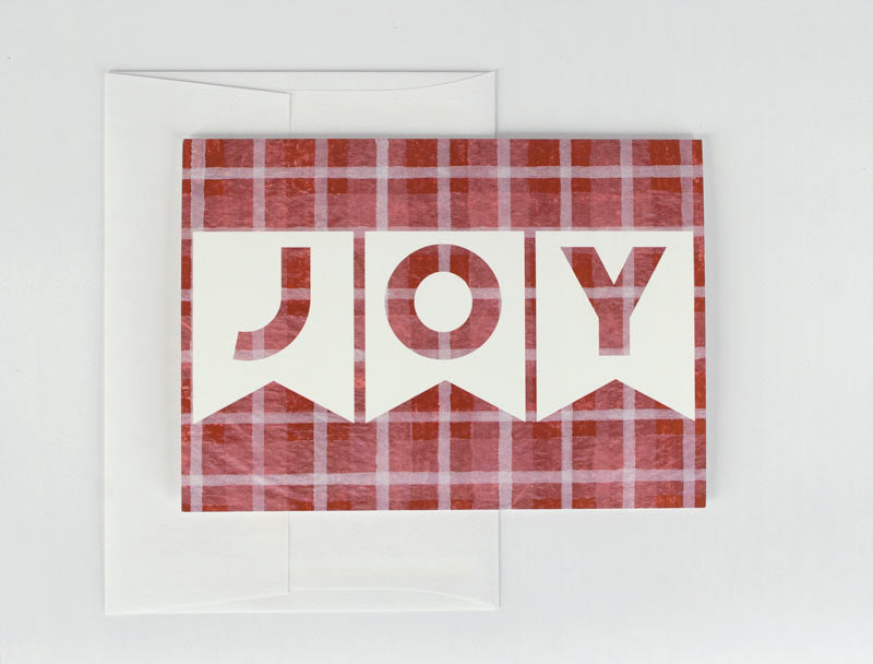 Red JOY Holiday Card